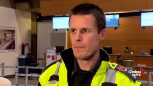 Calgary EMS official talks helping passengers after plane diverted to Calgary