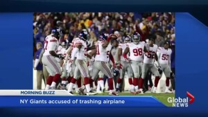 NY Giants accused of trashing plane