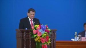 Philippine President Rodrigo Duterte announces his 'separation' from the United States