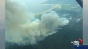 Wildfires burn & provincial ban issued
