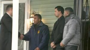 NYC Mayor, Chief of Police visit family of fallen cop
