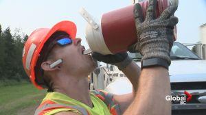 Here's how work crews handle the heat