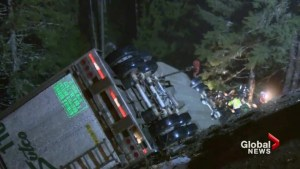 Truck driver rescued after a two day cliffhanger