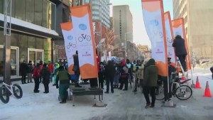 Cyclists promote winter cycling in Montreal