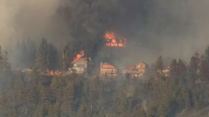 Lake Country residents flee wildfire, homes destroyed