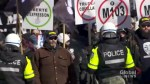 Protesters and opponents clash at Montreal rally