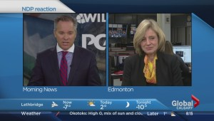 Rachel Notley reacts to PC-Wildrose merger