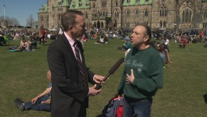 420 rally on Parliament Hill attracts several pro marijuana activists