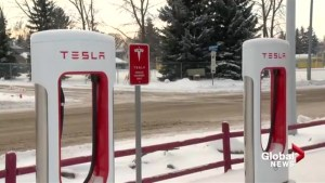 Tesla Supercharger opens in Fort Macleod