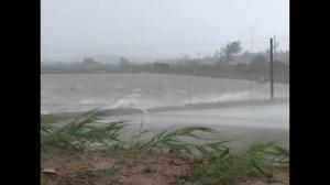 Raw video: Typhoon Linfa makes landfall in China