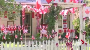 Lethbridge couple covers home in Canadian flags in celebration of Canada Day