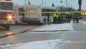 Winnipeg Transit buses collide