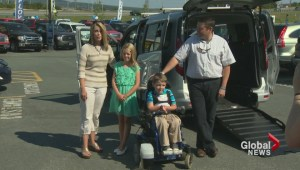 Crowdfunding helps young boy get a wheelchair accessible van