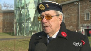 Remembrance Day ceremony at the Stewart Museum