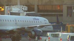 JetBlue plane struck by van shortly before takeoff
