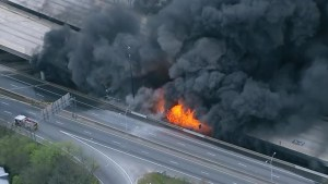 Massive fire collapses highway bridge in Atlanta