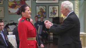 RCMP officer Sylvie Marcoux receives Medal of Bravery for her actions during Ottawa shooting