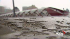 Calgary's Peace Bridge marred by vandalism and bad workmanship