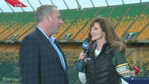 Eskimos Len Rhodes previews Friday's tilt with the Riders