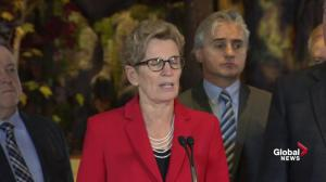 Kathleen Wynne outlines Ontario's history on combating climate change