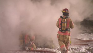 Raw video: Firefighters battle Papineau apartment fire