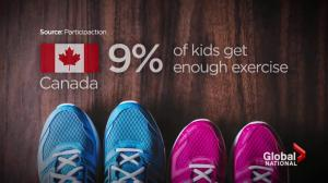 Study: Canadian kids among the least active in the world