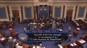 Senate fails to override President Obama's veto of Keystone XL bill