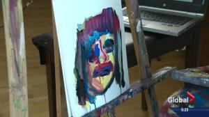 Edmonton artist uses Facebook in hopes of painting 1,000 portraits