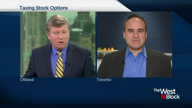 Taxing stock options canada