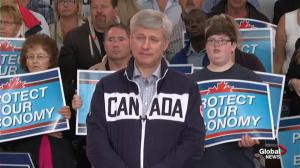 Harper says Canada's economy will be in surplus for two years