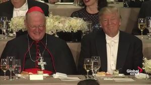 Charity dinner M.C. jokingly reminds Donald Trump that he's not in a locker room