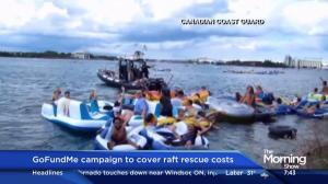 GoFundMe campaign launched to cover raft rescue costs
