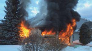 Mt. Bullman Drive home damaged in fire