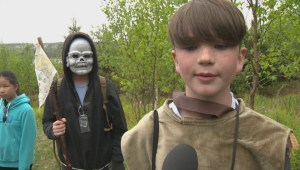 Medieval characters take over scouts camp