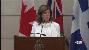 Rona Ambrose addresses Conservative Caucus for last time