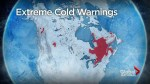 Parts of Canada still in a deep freeze