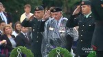 Trudeau and veterans mark 75th anniversary of Dieppe raid in rainy ceremony