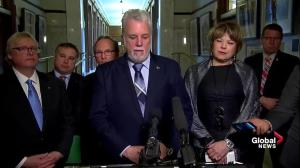 Philippe Couillard thanks all those who turned out for Quebec City vigils