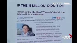Appearance of holocaust denial posters rattle Calgary's jewish community