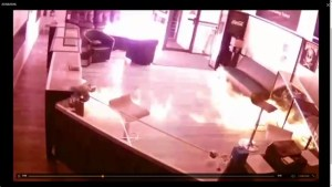 Security footage shows fire at Leduc business