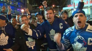 Playoff dreams are now a reality for Leaf nation tonight