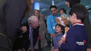 Gov. Gen. welcomes Syrian refugee family to Canada