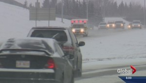 Calgary police respond to dozens of crashes as snow blankets city roads