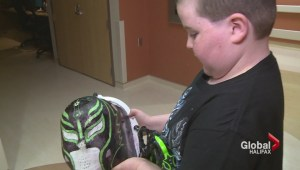 Painted masks give confidence to young patients