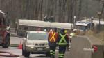 Tanker rollover east of Orangeville leaks thousands of litres of gasoline