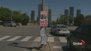 Mississauga wants nuisance signage off its property