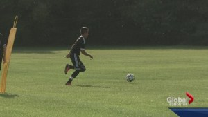 Young soccer player breaks record