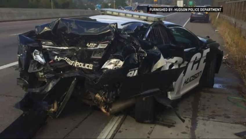 Hudson police officer almost crushed by her own cruiser in Wisconsin