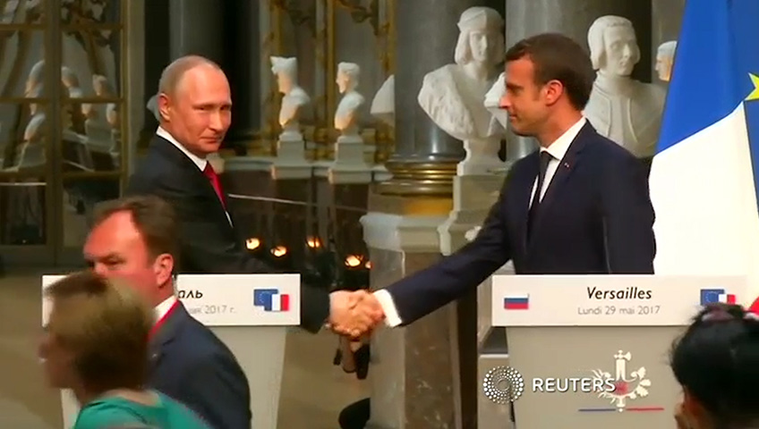 Terrorism, Ukraine and Syria conflicts at heart of Macron, Putin meeting