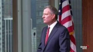 Emotional NYC Mayor speaks about killing of NYPD officers
